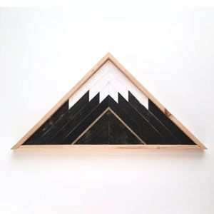 Other - Handmade Mountain Triangle Reclaimed Wood Mosaic